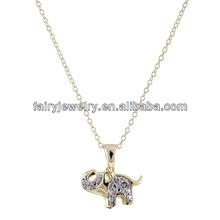 925 sterling silver animal pendant floating elephant diamond pendant