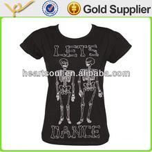 Printed Custom Black heat transfer images t-shirt