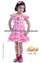 Pink Beautiful Design Girls Frock 2015