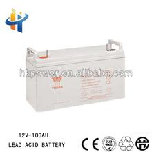 Yuasa 12V 100AH deep cycle rechargeable ups , gel battery,accumulator battery