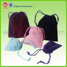 Promotion Multi Color Velvet Wine Bottle Bag