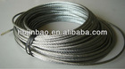Galvanized steel wire rope in soft coils