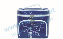 fashion top pvc cosmetic bag train case