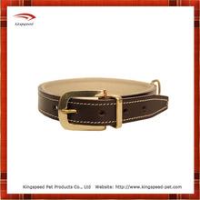 Contrast dog leather harness collar leash
