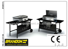 New Style Gas Griddle with two burners for home or outdoor cooking