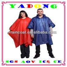 One Size Fits All Adult Emergency Rain Poncho,raincoat,rainwear, Cheap Adult PVC Poncho