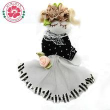 8cm niña tela de coser a mano parche de col muñecas