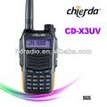 Usado barato com rádio walkie talkie dual band rádio em dois sentidos( cd- x3uv)