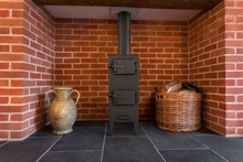 Freestanding steel stove for wood, coal and briquette ACKERMAN W2 5 kW