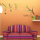 Reusable Wall Decals Little Bird's Home 70x50cm