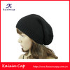 Black Fitted Plain Slouch bulk Beanie/Hot Selling Hat 100% Acrylic Free Knitted Plain Long Slouch Beanie Hat
