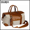 Leather Travel Bag Duffle Linen Canvas bag in guangzhou
