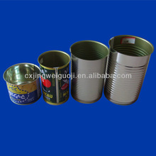 printed round empty metal tin cans for food canning like canned mushroom/bamboo shoot/asparagus/ketchup/fruit salad/nut/snack