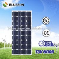 Bluesun brand cheap price mono 100w taiwan solar panel manufacturers