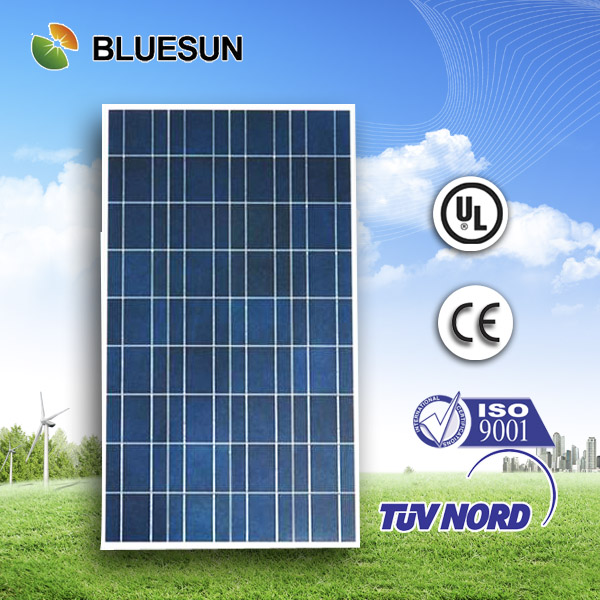 Bluesun top quality poly 100w solar panel free shipping