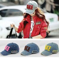 7660 Men And Women Korean Style Fashion Letter Print Hat, Candy Color Baseball Caps, Unisex Visors