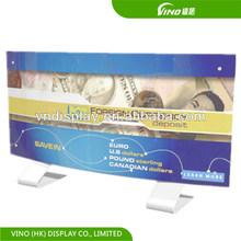 unusual custom counter top poster display for banks