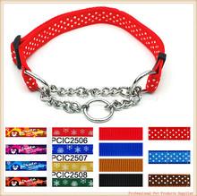 Adjustable Nylon Dog Pet Choke Chain Training Collar
