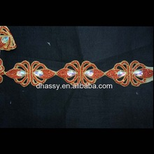 Wholesale Beautiful Rhinestone Beaded Trim For Wedding Dress DH-1493