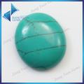 atacado oval gemstone sintético turquesa cabochão