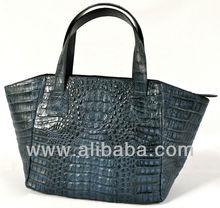 MIMI - 100% Handmade Genuine Exotic Leather Crocodile Skin Women Designer New Shoulder Satchel Tote Bag Handbag
