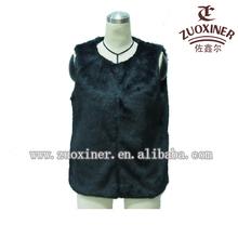 2014 newest style cheap fur vests femme