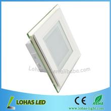 LED aluminium panel Hot High brightness 86-265V AC Silver high lumen 6w 12pcs led panel 540lm square lamps