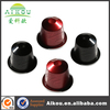 Reusable nespresso competital aluminum coffee capsule with manufacturer