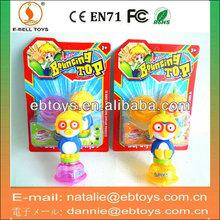14cm plastic pororo toy beyblade with lights
