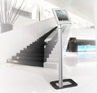 Anti-theft tablet floor stand