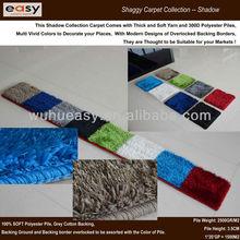 Brown Shag Tapis en Polyester, Floor Mat with Anti-slip Natural Latex Backing