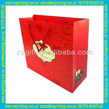 2015 new high quality wholesale valentines day paper gift bag