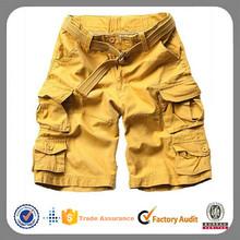 2014 fashion wholesale khaki cheap baggy mens 3/4 cargo shorts
