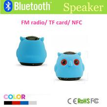 Portable animal shape mobile speaker audio mini speaker sound owl portable mp3 mobile mini animal speaker