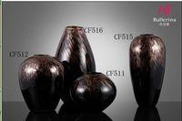 floor huge Brown Glass Vases