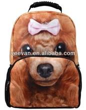 cut doggie animal shaped backpacks,3d animal school bag