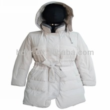 Hot Selling Winter Ladies Down Coat With Belt