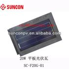 solar roof flat tile 20w CE,CEC,TUV