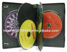 14mm black clear multi disc CD DVD case