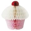 Pretty Pink Honeycomb Paper Cupcake Decorations,Cupcake Honeycomb 8INCH