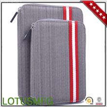 Hot Sale New Stylish Suit Fabric Zipper Case for iPad Mini