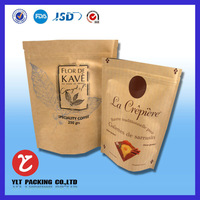 Where is High Quality Cheapest with Window with Zipper 2014 Hot Sales Kraft Craft Coffee Paper bag