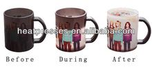Hot Color changing Sublimation Glass Mug (G-M1)