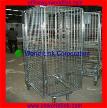 Heavy Duty Foldable Steel Rolling Storage Cage