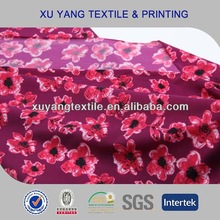 Fancy floral print nylon spandex swimwear fabric 2014