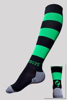 Soccer socks top quality polyester elastane