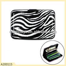 Zebra printed pvc wallet