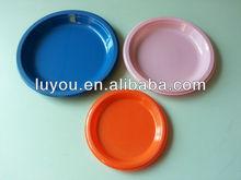 dispoable solid color plastic plate
