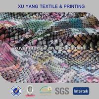 2015 new 80 Polyester 20 Elastane sublimation transfer snake printed swimwear fabric