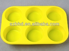 High Quality 6 Cup Silicone Muffin Pan